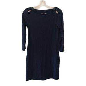 Lilly Pulitzer Sophie UPF 50 Navy Dress XXS